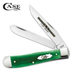 Case Limited Edition Bright Green Bone Trapper Pocket Knife