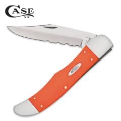 Case Smooth Orange Synthetic Folding Hunter Pocket Knife