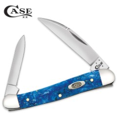 Case Blue Sparkle Kirinite Mini Copperhead Pocket Knife