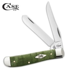 Case Green Curly Maple Trapper Pocket Knife