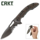 CRKT Ikoma Fossil Pocket Knife 5in Veff Serrations