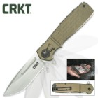 CRKT Homefront Pocket Knife | Field Strip No-Tool Disassembly Technology | OD Green