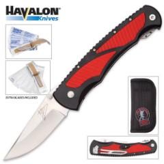 Havalon Titan Jim Shockey Signature Series 2-Blade Pocket Knife w/ 12 Replaceable Blades
