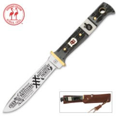 Kissing Crane Corn Squeezin Moonshine Hunter With Sheath
