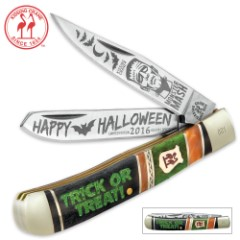Kissing Crane Limited Edition 2016 Halloween Trapper Knife