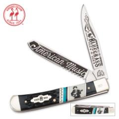 Kissing Crane Limited Edition 2016 Bluegrass Trapper Folding Pocket Knife
