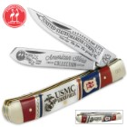 Kissing Crane USMC Trapper Pocket Knife / Folder