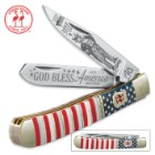 Kissing Crane 2017 Independence Day Trapper Pocket Knife