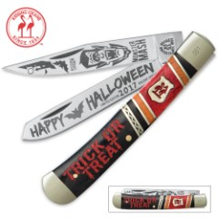 Kissing Crane Limited Edition 2017 Halloween Trapper Knife