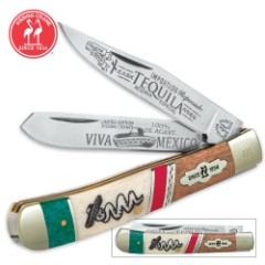 Kissing Crane Tequila Trapper Pocket Knife