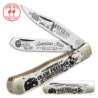 Kissing Crane Iraqi Freedom Trapper Pocket Knife
