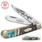 Kissing Crane Limited Edition Peacock Trapper Pocket Knife