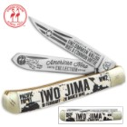 Kissing Crane Iwo Jima Trapper Pocket Knife