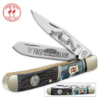 Kissing Crane Free Mason Trapper Knife