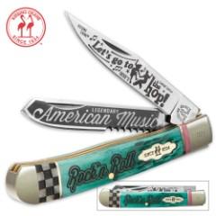 Kissing Crane Rock N Roll Trapper Pocket Knife