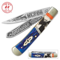 Kissing Crane Limited Edition Blues Trapper Pocket Knife