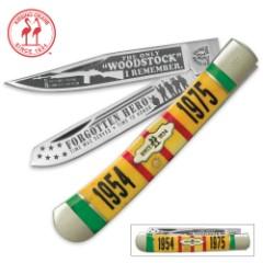 Kissing Crane Limited Edition 2017 Vietnam Veteran Tribute Trapper Pocket Knife