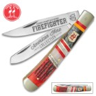 Kissing Crane Fire Fighter Trapper Pocket Knife