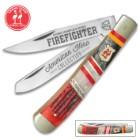 Kissing Crane Fire Fighter Trapper Pocket Knife