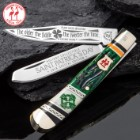 Kissing Crane 2018 Limited Edition St. Patrick's Day Trapper / Pocket Knife
