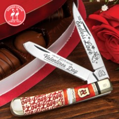 Kissing Crane 2019 Valentine's Day Trapper Pocket Knife