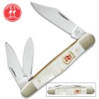 Kissing Crane Genuine Pearl Whittler Pocket Knife