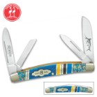 Kissing Crane Bahama Blue Congress Pocket Knife