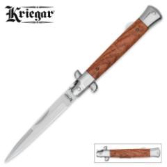 Kriegar German Heartwood Stiletto Pocket Knife
