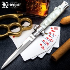 Kriegar German Stiletto Pocket Knife - Imitation Pearl