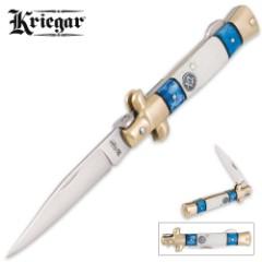 Kriegar Masonic Stiletto Knife