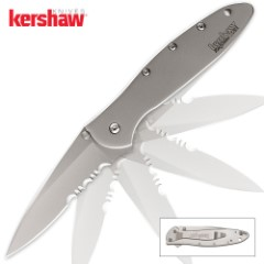 Kershaw Leek Assisted Opening Pocket Knife Stainless Serrated