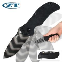 Zero Tolerance 0350TS Tiger Stripe Assisted Opening Folding Pocket Knife G-10
