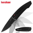 Kershaw Launch 2 Auto Black Serrated Knife