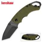 Kershaw Shuffle II Pocket Knife – Olive Blackwash