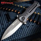 Shinwa Ganjo Black G10 Pocket Knife - 3Cr13 Stainless Steel Blade, Black G10 Handle Scales, Ball Bearing, Pocket Clip