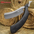 "Shinwa Kamisori Folding Razor Knife - Stainless Steel Blade, Grey Titanium Finish, G10 Handle Scales - 6"" Closed"