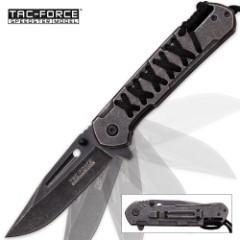 Tac Force Cordmaster Speedster Assisted Opening Pocket Knife with Black Paracord