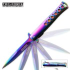 Rainbow Anodized Spring Assisted Knife