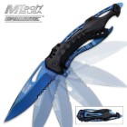 Mtech Ballistic Assisted Opening Folding Pocket Knife Blue Titanium