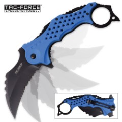 Tac Force RiverClaw Assisted Opening Folding Karambit - Blue