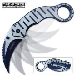 Tac Force Blue Streak Speedster Assisted Opening Folding Karambit - Blue