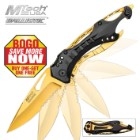 MTech USA Gold Ballistic Assisted Opening Pocket Knife BOGO
