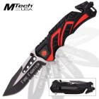 Mtech Fire Fighter Assisted Opening Rescue Pocket Knife