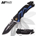 Mtech Police Assisted Opening Rescue Pocket Knife