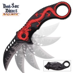 Red Dragon Karambit Spring-Assisted Open Folding Knife
