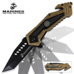 MTech U.S.M.C. Salvager Assisted Opening Rescue Pocket Knife