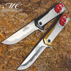 Japanese Crimson Demon Pocket Knife - 3Cr13 Stainless Steel Blade, Stainless Steel Handle, Tinite Coated, Embossed Artwork, Pocket Clip