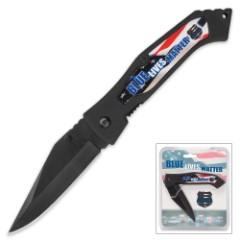 Blue Lives Matter Pocket Knife