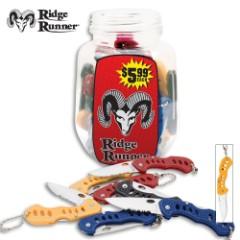 Ridge Runner Jar of Knives 36 Pcs.