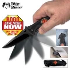 Ridge Runner Firefighter Knife 2 For 1